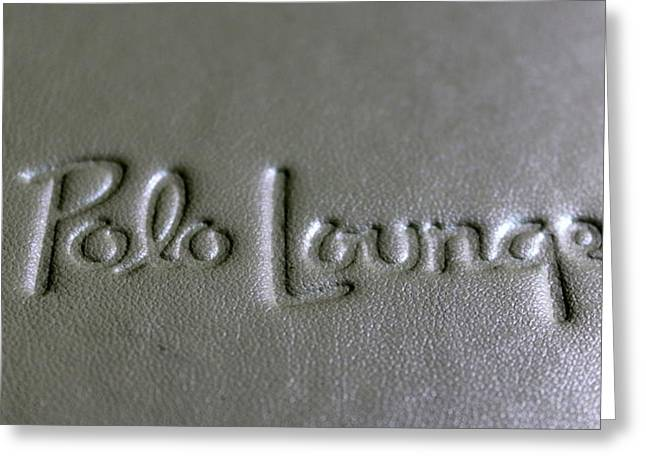 Polo Lounge Beverly Hills Greeting Card by Russ Harris