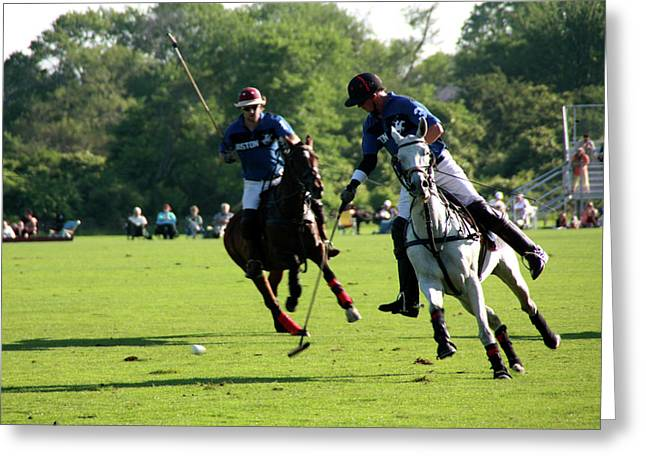 Polo Match Greeting Card