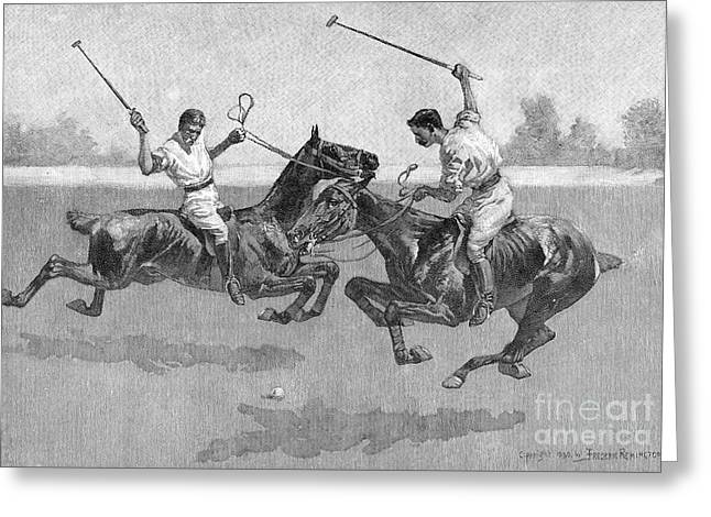 Polo Players Greeting Card
