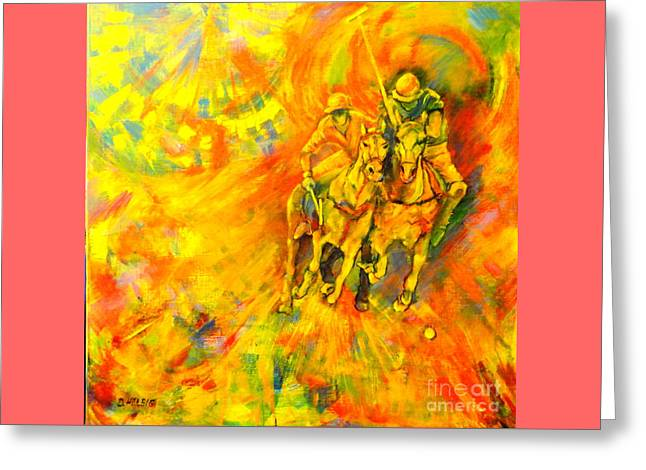 Poloplayer Greeting Card