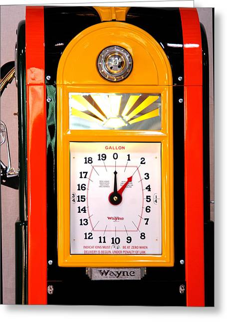 Poly Antique Gas Pump Greeting Card