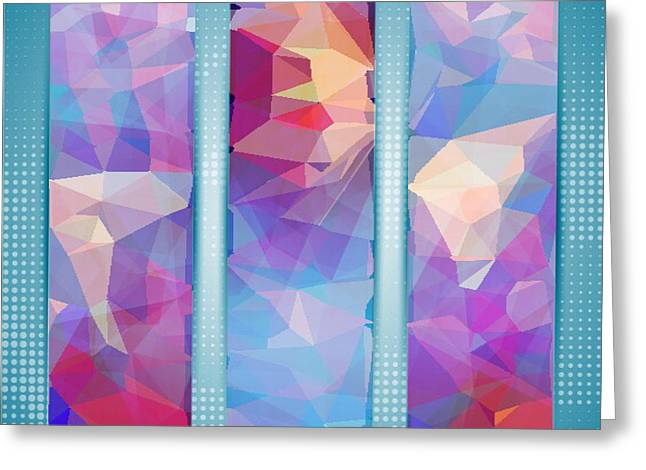 Polygon Abstract In 3 Frames Greeting Card