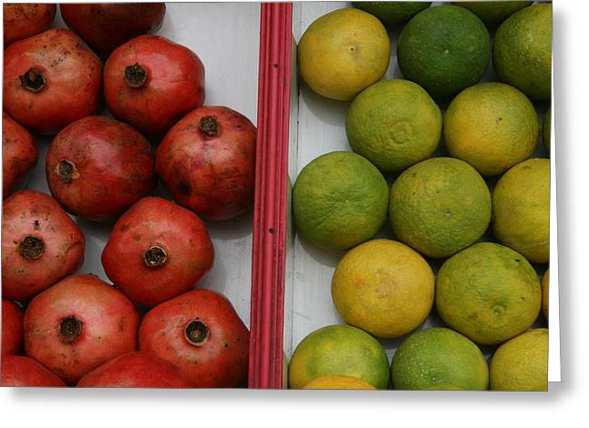 Pomegranate And Sweet Lime Greeting Card by Deepak Pawar