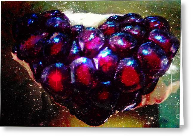 Pomegranate Heart In Space Greeting Card