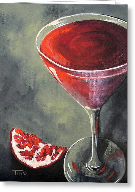 Pomegranate Martini  Greeting Card