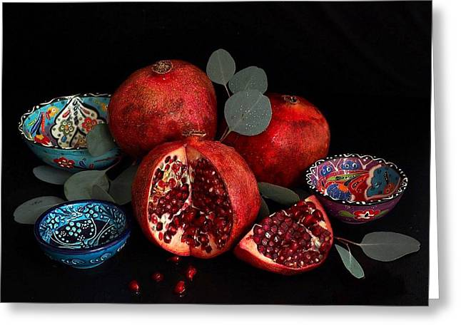 Pomegranate Power Greeting Card