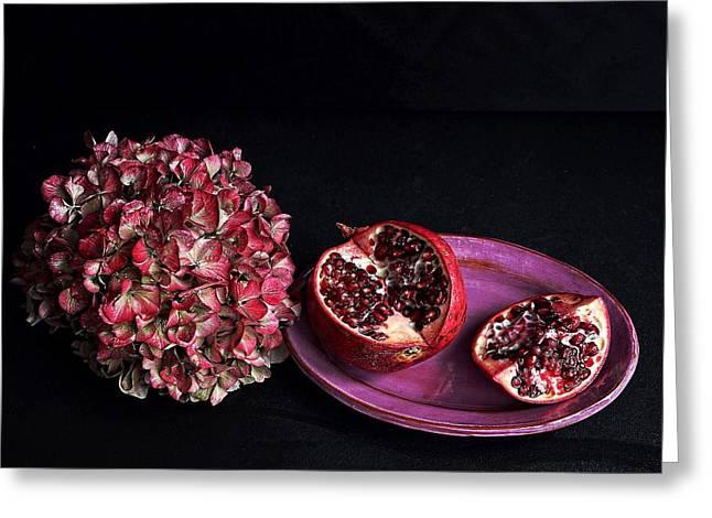 Pomegranate Still Life Greeting Card