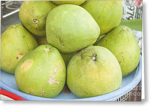 Pomelo Greeting Card by D R