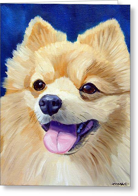 Pomeranian Greeting Card by Lyn Cook