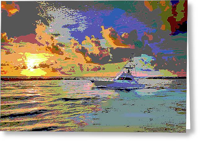 Pompano Inlet Greeting Card