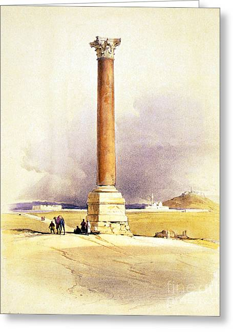 Pompeys Pillar, Ancient Roman Monolith Greeting Card