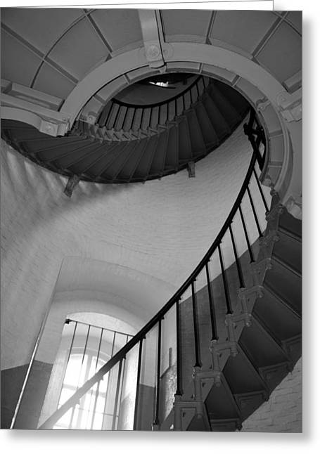 Ponce De Leon Lighthouse Stairs Greeting Card