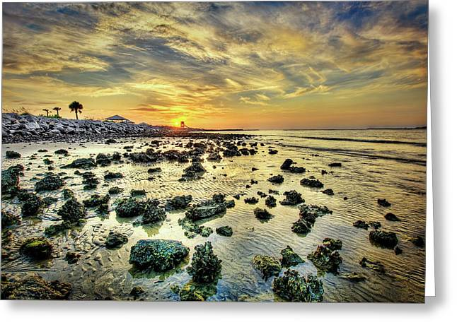 Ponce Inlet Jetty Greeting Card by Brent Craft