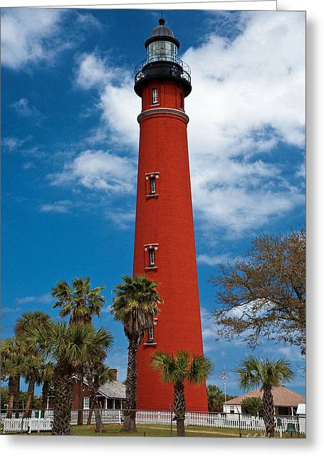 Ponce Inlet Lighthouse Greeting Card by Christopher Holmes