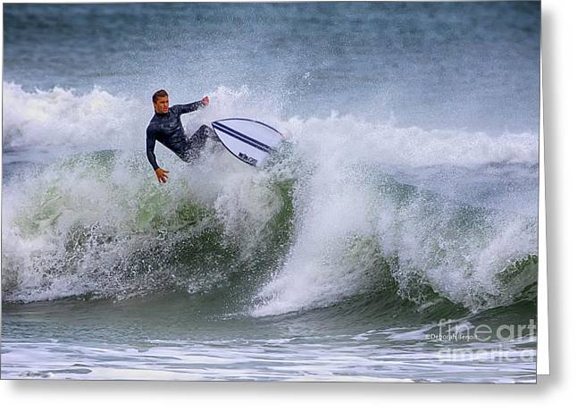 Greeting Card featuring the photograph Ponce Surf 2017 by Deborah Benoit