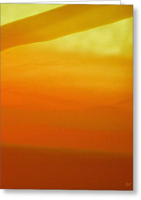 Poncho Abstract 10 Greeting Card by Jeff Breiman