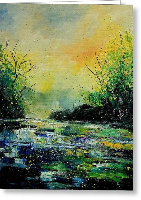 Pond 459060 Greeting Card by Pol Ledent