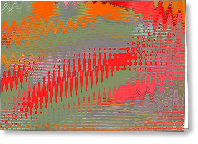 Pond Abstract - Summer Colors Greeting Card by Ben and Raisa Gertsberg