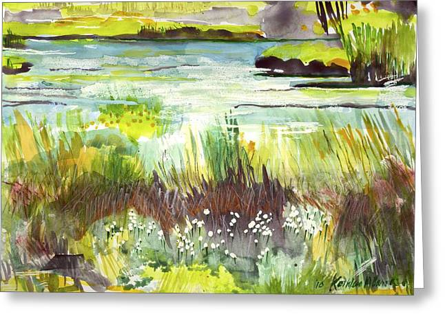 Pond And Plants Greeting Card