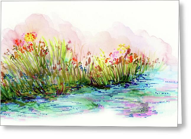 Sunrise Pond Greeting Card