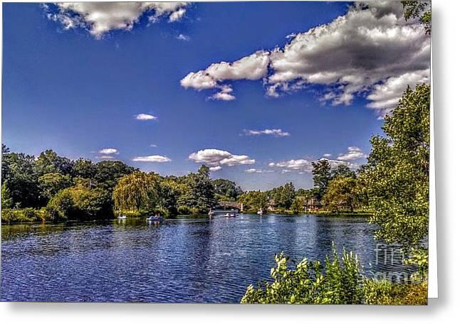 Pond At Verona Park Greeting Card