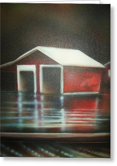 Pond House Greeting Card by Scott Easom