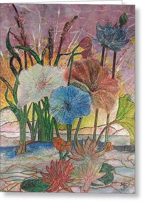 Pond Greeting Card by John Vandebrooke