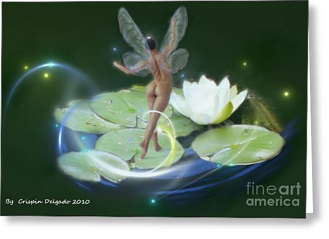 Pond Lilies Greeting Card by Crispin  Delgado