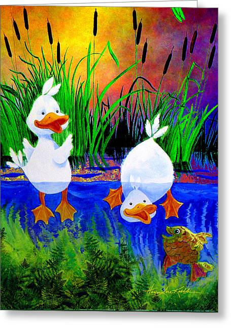 Pond Pals Greeting Card by Hanne Lore Koehler