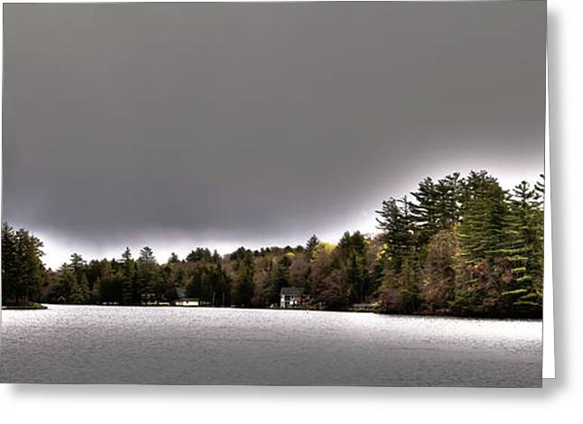 Pond Panorama Greeting Card by David Patterson