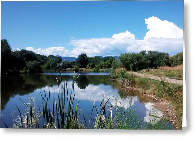 Pond Reflections At Bear Creek Trail Colorado Greeting Card