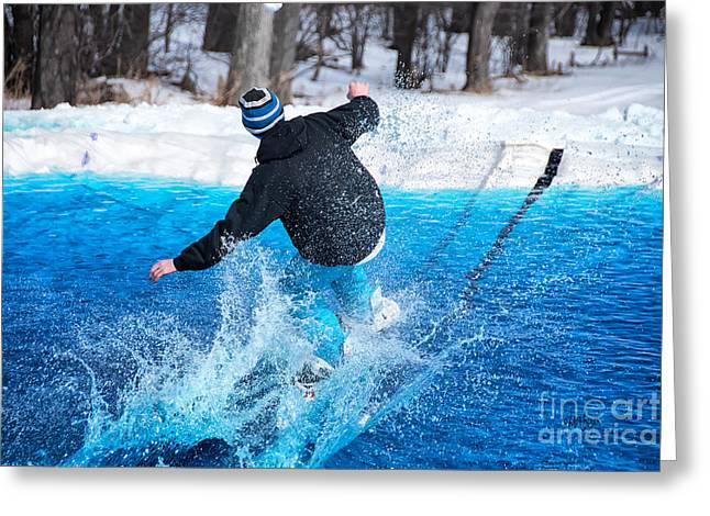 Pond Skimming Greeting Card