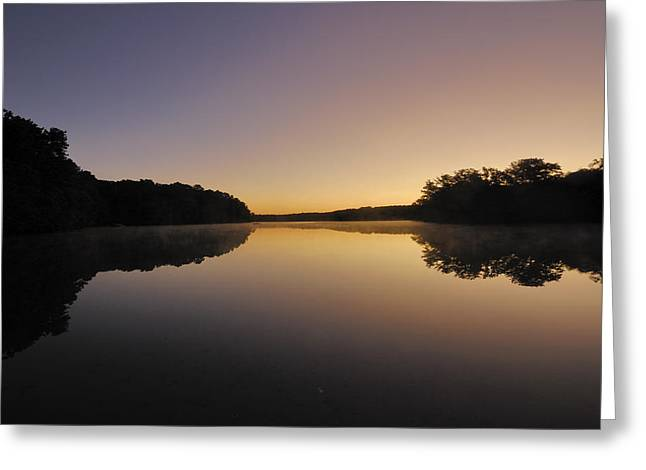 Pond Sunrise Greeting Card by Mimi Katz
