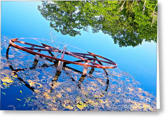 Pond Wheel Greeting Card by Chuck Taylor