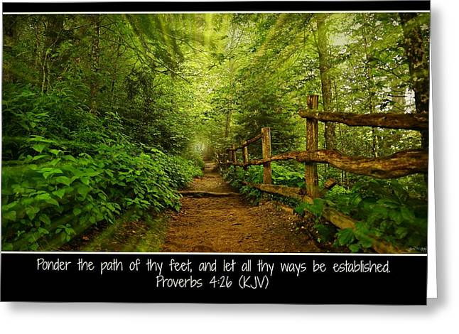 Ponder Thy Path - Poster Greeting Card by Stephen Stookey