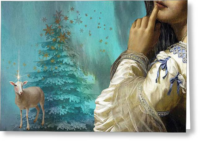 Pondering Peace Greeting Card by Laura Botsford