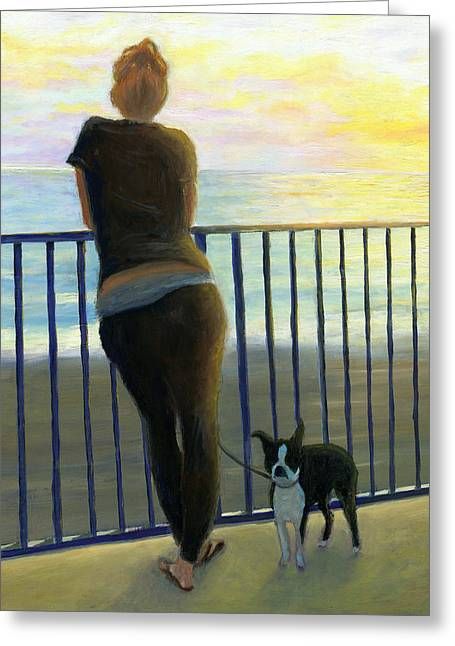 Pondering The Pacific Greeting Card by Karyn Robinson