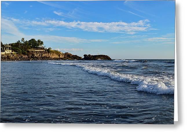 Poneloya Beach Before Sunset Greeting Card