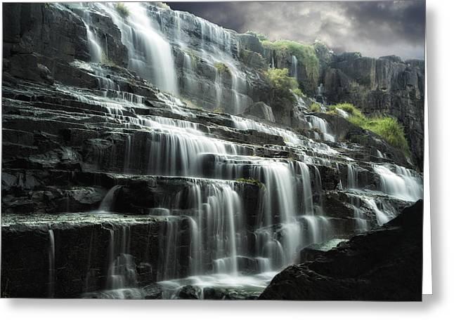 Pongour Falls 1 Greeting Card by Alan Kepler
