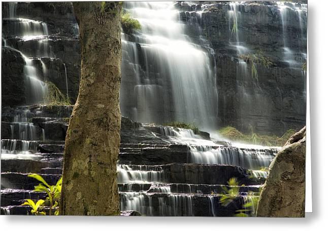 Pongour Falls 2 Greeting Card by Alan Kepler