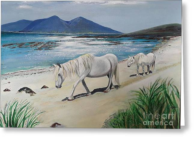 Ponies Of Muck- Painting Greeting Card
