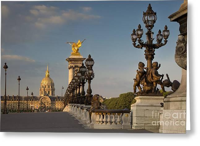 Pont Alexandre IIi At Dawn Greeting Card