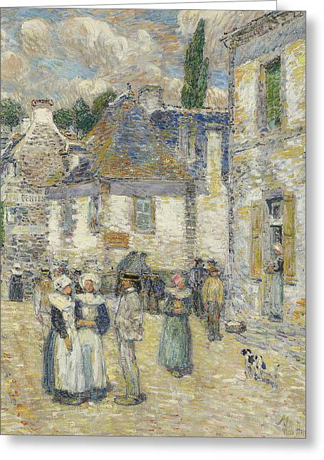 Pont-aven Greeting Card by Childe Hassam