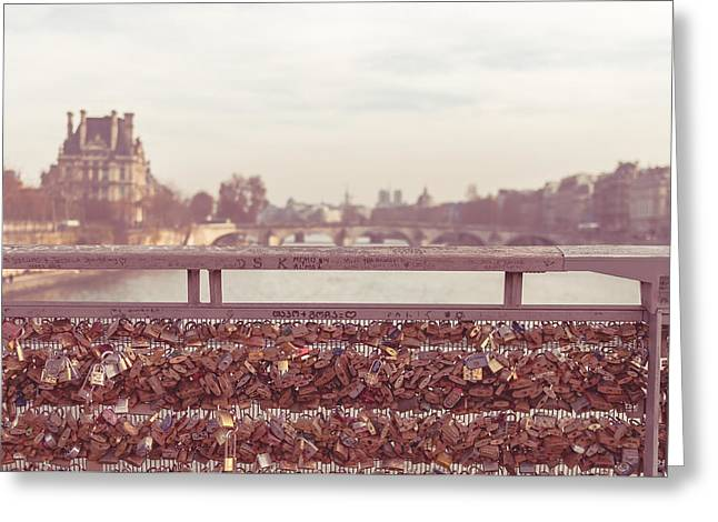 Pont Des Arts Greeting Card by Marcus Karlsson Sall