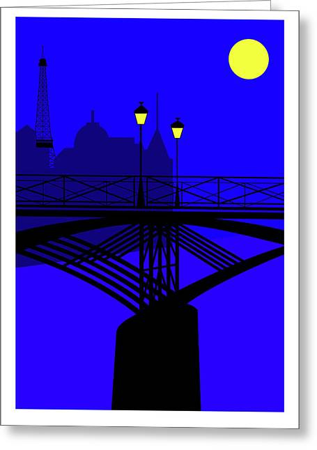 Pont Des Arts Paris Greeting Card by Asbjorn Lonvig