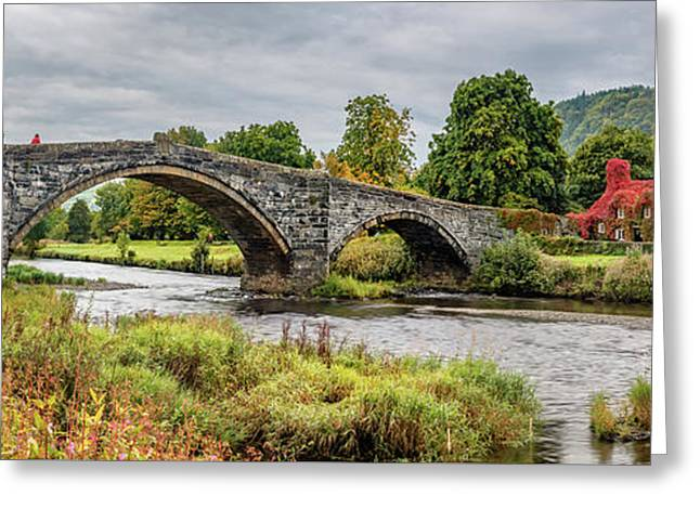 Pont Fawr Bridge Llanrwst Greeting Card by Adrian Evans