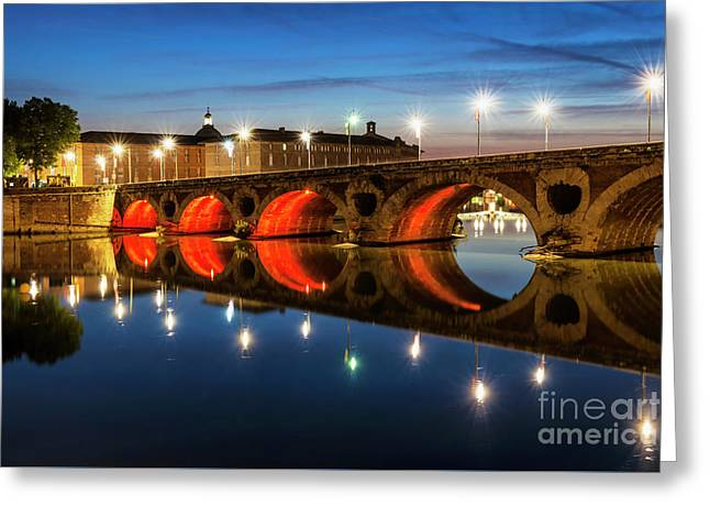 Greeting Card featuring the photograph Pont Neuf In Toulouse by Elena Elisseeva