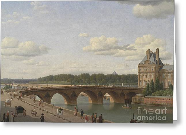 Pont Royal Seen From Quai Voltaire, 1812 Greeting Card