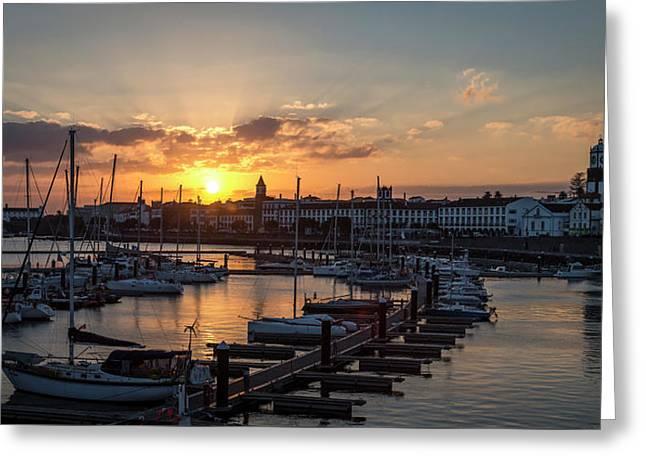 Ponta Delgada Sunset Greeting Card