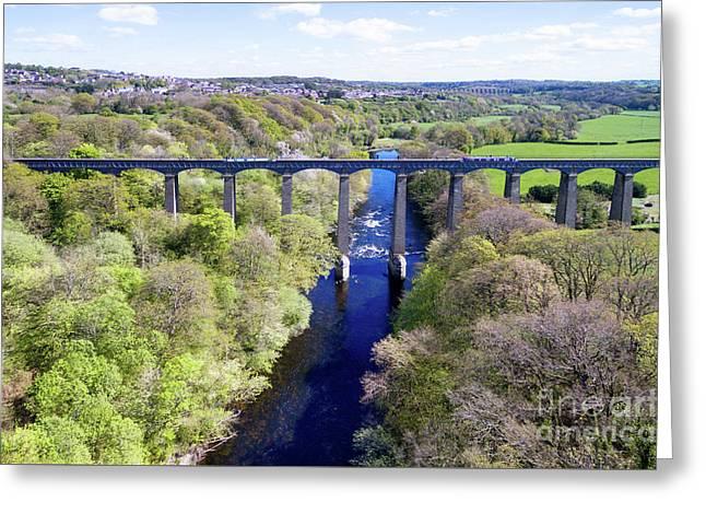 Pontcysyllte Aqueduct Greeting Card by Steev Stamford